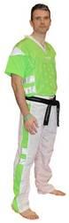 Kickboxuniform TopTen Neon Limited, Grün/Weiss