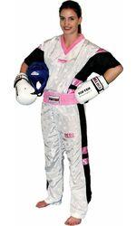 Kickboxuniform TopTen Neon Limited, weiß/pink