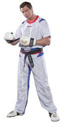 Kickboxuniform TopTen PQ-Mesh, weiß/blau
