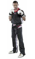 Kickboxuniform TopTen PQ-Mesh, schwarz/weiß
