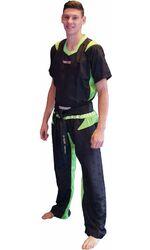 Kickboxuniform TopTen PQ-Mesh Neon, schwarz/grün