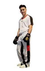 Kickboxuniform TopTen FLEXZ, Weiß-Schwarz