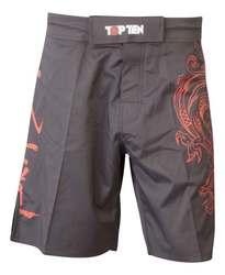 TopTen MMA Shorts Dragon, Schwarz-Rot