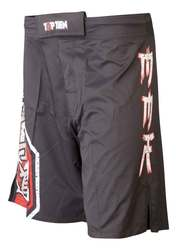 TopTen MMA Shorts Sunrise, Schwarz-Rot