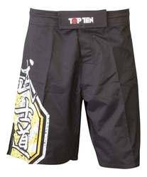 TopTen MMA Shorts Sunrise, Schwarz-Gelb