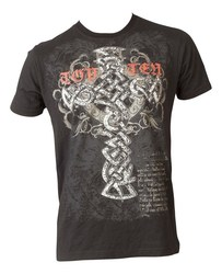 T-Shirt TopTen MMA Tribal Cross, Schwarz