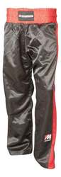Kickboxhose MANUS Airtex, Schwarz-Rot