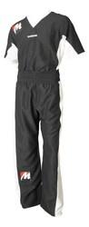 Kickbox-Uniform Manus Airtex, Schwarz-Weiß