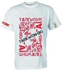 ITF T-Shirt TopTen Taekwondo, Weiß