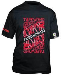 ITF T-Shirt TopTen Taekwondo, Schwarz