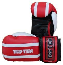 Box- und Sparringhandschuh TopTen Stripe, Rot