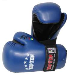 ITF Taekwondo Wettkampfhandschuhe TopTen, Blau
