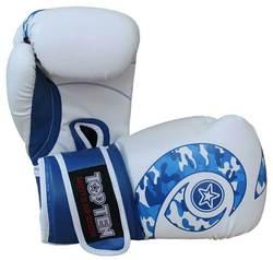 Boxhandschuh TopTen Blue Whirl WCS, Blau-Weiß