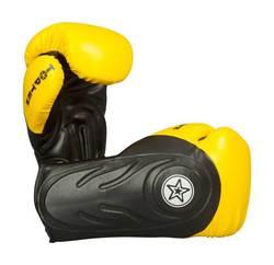 Box- und Sparringshandschuh TopTen Hero, Schwarz-Gelb