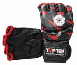 Ultimate Fighting Gloves TopTen MMA Jungle, Schwarz-Rot