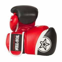 Thaibox- und Sparringhandschuh TopTen King Style, Schwarz-Rot