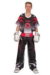 Kickboxuniform TopTen Future, Schwarz-Rot-Grau