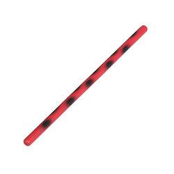 Arnis-Stock, rot/schwarz