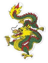 Patch Dragon green
