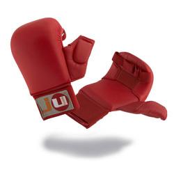 Karate Handschutz rot mit Daumen
