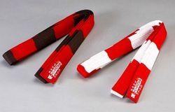 Gürtel rot/weiß  6.DAN