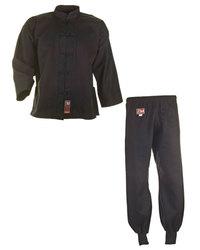 kung fu anzug schwarz cotton passt sitzt wackelt und. Black Bedroom Furniture Sets. Home Design Ideas