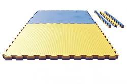 Puzzlematte Tatami 4 cm blau-gelb