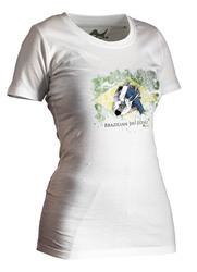 BJJ-Shirt Ground Warrior weiß Lady