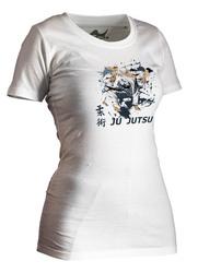 Lady Ju-Jutsu-Shirt Artist weiß