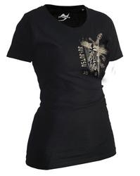 Lady Ju-Jutsu-Shirt Trace schwarz