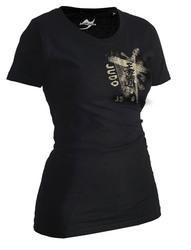 Lady Judo-Shirt Trace schwarz