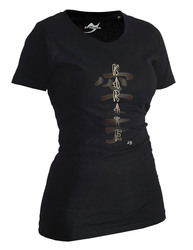Lady Karate Shirt Classic schwarz