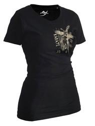 Lady Karate Shirt Trace schwarz