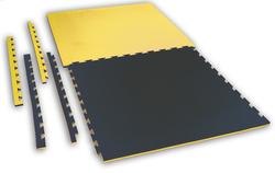 Puzzlematte Checker 2,0 cm schwarz-gelb