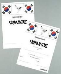 Taekwondo-Prüfungs-Urkunde