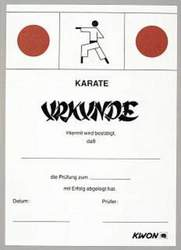 Karate-Prüfungs-Urkunde