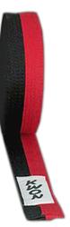 KWON-Budogürtel schwarz-rot (Poom)
