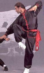 Kung Fu - Wu Shu Anzug schwarz-rot