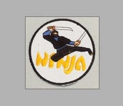 Stickabzeichen Ninja