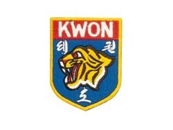 Stickabzeichen Kwon Tigerkopf