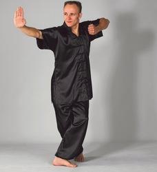 Moderner Kung Fu Anzug schwarz