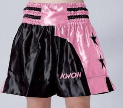 Short Lady schwarz-pink