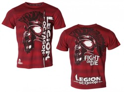 T-Shirt L.O. Fight or Die, rot