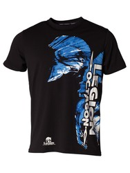 L.O. T-Shirt Blue Head, Schwarz